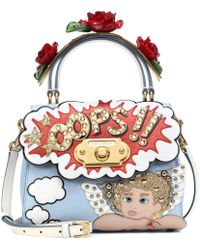 Dolce & Gabbana - Welcome Leather Shoulder Bag - Lyst