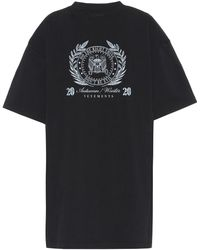 Vetements Printed Cotton-jersey T-shirt - Black