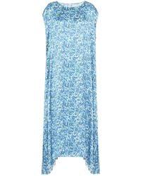 Vetements Robe longue imprimée - Bleu