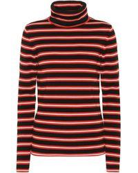 3 MONCLER GRENOBLE Jersey en mezcla de lana de rayas - Rojo
