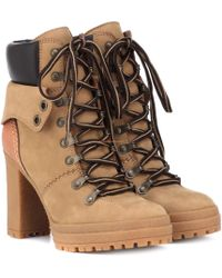 043a7d4f563e See By Chloé - Eileen Leather Ankle Boots - Lyst
