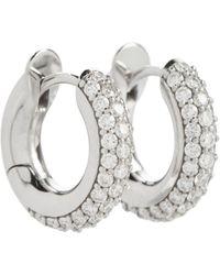 Spinelli Kilcollin Créoles Macro Hoop en or blanc 18 ct et diamants - Métallisé