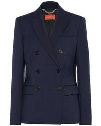 Altuzarra Blazer Indiana in lana stretch - Blu
