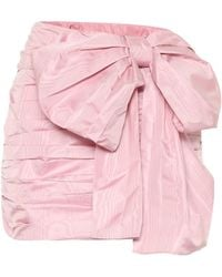 RED Valentino Taffeta Miniskirt - Pink