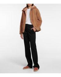 Loro Piana Berwin Reversible Shearling Cashmere And Silk Jacket - Brown