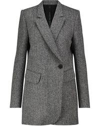 Petar Petrov Imani Herringbone Wool Tweed Blazer - Grey
