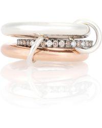 Spinelli Kilcollin - Anillo Libra Custom de oro de 18 ct y diamantes - Lyst