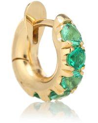 Spinelli Kilcollin Mini Macro Hoop 18kt Gold And Emerald Single Earring - Metallic