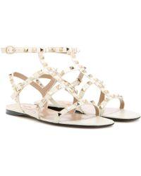 Valentino - Rockstud Leather Sandals - Lyst