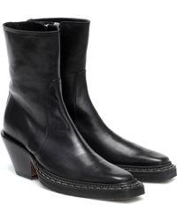 Acne Studios Leather Cowboy Boots - Black