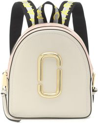 Marc Jacobs Pack Shot Leather Backpack - Natural