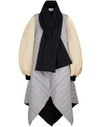 Loewe Colorblocked Quilted Cotton Coat - Multicolour