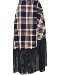 ROKH Checked Midi Skirt - Multicolour