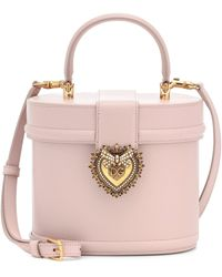 Dolce & Gabbana Devotion Leather Bucket Bag - Pink