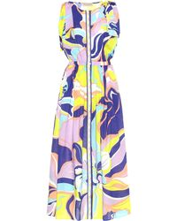 Emilio Pucci Printed Cotton Maxi Dress - Multicolour
