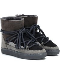 Inuikii Ankle Boots Patchwork - Grau