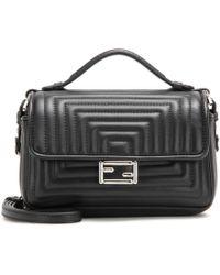 Fendi - Double Micro Baguette Leather Shoulder Bag - Lyst