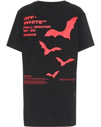Off-White c/o Virgil Abloh Bat Printed Cotton T-shirt - Black