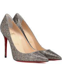a49b66d5c7b Kate 100 Glitter Court Shoes - Metallic