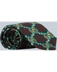 Gucci Cravate en soie imprimée GG - Multicolore