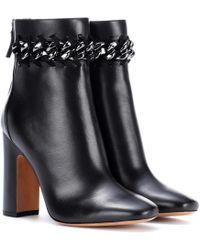 Valentino Ankle Boots aus Glattleder - Schwarz