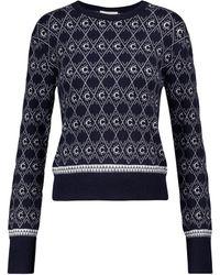 Chloé Pullover aus einem Wollgemisch - Blau