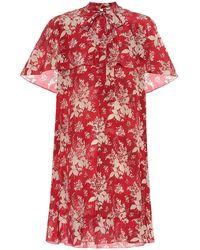 RED Valentino Miniabito a stampa in seta - Rosso