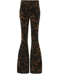 Mugler Jacquard High-rise Flared Trousers - Black