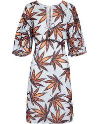 Dorothee Schumacher Fantasy Leaves Printed Cotton Minidress - Orange