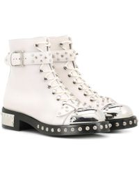 Alexander McQueen Ankle Boots - White