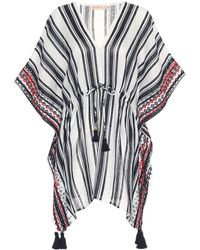 Tory Burch - Striped Linen Cover-up - Lyst