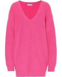 Balenciaga Oversized Cotton-blend Jumper - Pink