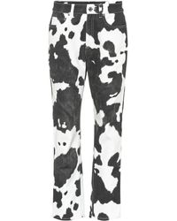 Burberry Printed High-rise Straight-leg Jeans - Black