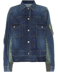Sacai Chaqueta de jeans con paneles - Azul