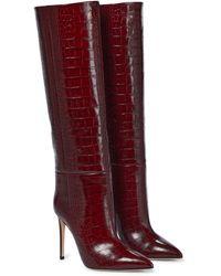 Paris Texas Stiefel aus Leder - Rot