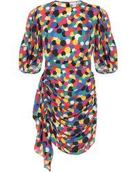 RHODE Pia Printed Georgette Minidress - Multicolour