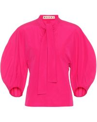 Marni Blusa de algodón - Rosa