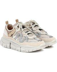 Chloé Sneakers Blake mit Leder - Mehrfarbig