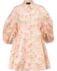 Simone Rocha Floral Cotton Dress - Pink