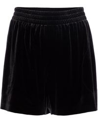 Norma Kamali High-rise Velvet Shorts - Black