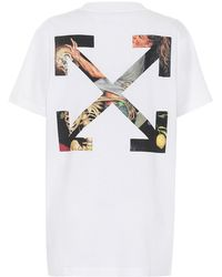 Off-White c/o Virgil Abloh Logo Cotton-jersey T-shirt - White