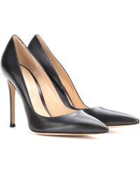 Gianvito Rossi Gianvito 105 Leather Court Shoes - Black