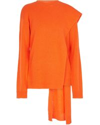 Valentino Jersey de lana y cachemir drapeado - Naranja