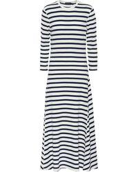 Polo Ralph Lauren Striped Waffle-knit Dress - Blue