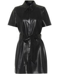 Nanushka Halli Faux Leather Minidress - Black