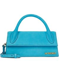 Jacquemus Le Chiquito Long Leather Tote - Blue