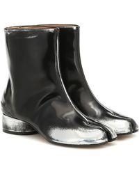 Maison Margiela Ankle Boots Tabi aus Lederimitat - Schwarz