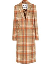 Acne Studios Checked Wool-blend Coat - Natural