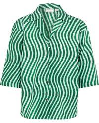 Dries Van Noten Bedrucktes Hemd aus Baumwollpopeline - Grün