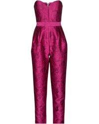 ROTATE BIRGER CHRISTENSEN Jumpsuit Lana aus Jacquard - Pink